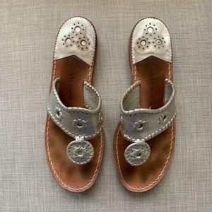 Jack Rogers Hamptons Navajo Sandal in Platinum
